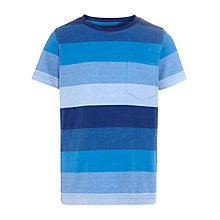 Buy John Lewis Boy Stripe Crew Neck T-Shirt, Blue Online at johnlewis.com