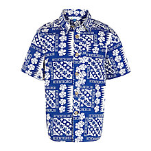 Buy John Lewis Boy Tiki Print Shirt, Blue Online at johnlewis.com