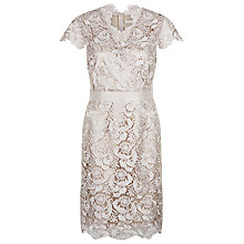 Buy Jacques Vert Luxury Lace Cross Front Dress, Blonde Online at johnlewis.com