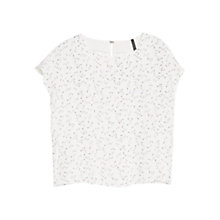 Buy Mango Printed Blouse, Natural White Online at johnlewis.com