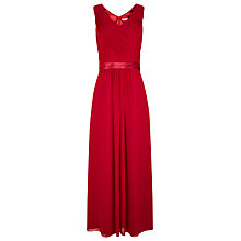 Buy Jacques Vert Pleat Maxi Gown, Dark Red Online at johnlewis.com