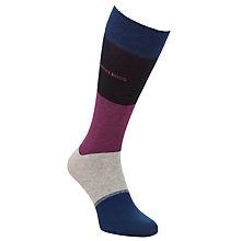 Buy BOSS Block Stripe Socks, Navy/Pink Online at johnlewis.com