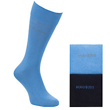 Buy BOSS Plain Socks, Pack of 2, Navy/Blue Online at johnlewis.com