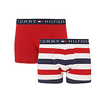 Buy Tommy Hilfiger Dolan Trunks, Pack of 2, Red/White/Blue Online at johnlewis.com