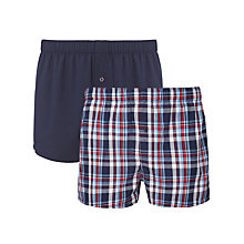 Buy Tommy Hilfiger Tim Woven Boxer Shorts, Pack of 2 Online at johnlewis.com