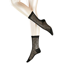 Buy Falke Flower Print Ankle Socks, Black Online at johnlewis.com