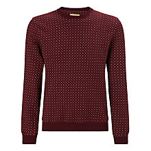 Buy JOHN LEWIS & Co. Polka Dot Sweatshirt, Burgundy Online at johnlewis.com