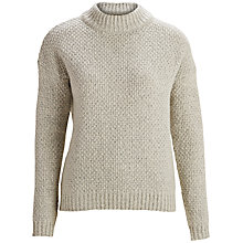 Buy Selected Femme Danna Knit Pullover, Light Grey Melange Online at johnlewis.com