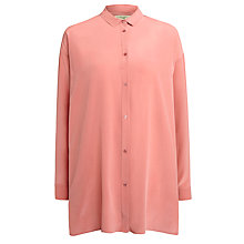 Buy Weekend by MaxMara Cris Maxi Silk Blouse, Dark Pink Online at johnlewis.com