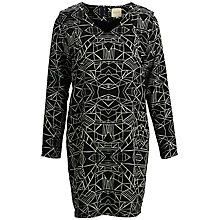 Buy Selected Femme Danica Print Dress, Black print Online at johnlewis.com