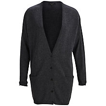 Buy Selected Femme Knit Cardigan, Dark Grey Melange Online at johnlewis.com