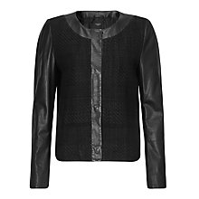 Buy Weekend by MaxMara Leather Jacket, Black Online at johnlewis.com