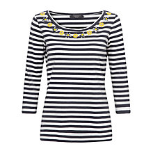 Buy Weekend by MaxMara Miretta Stripe Top, Ultramarine Online at johnlewis.com