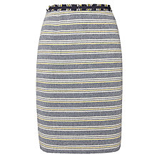 Buy Weekend by MaxMara Ecru Striped Pencil Skirt, Midnight Blue Online at johnlewis.com