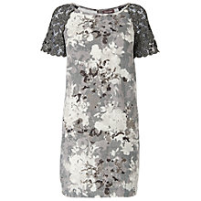 Buy Phase Eight Tamia Lace Sleeve Tunic, Charcoal Online at johnlewis.com