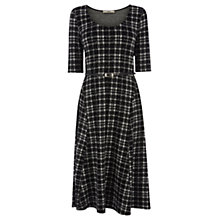 Buy Oasis Tartan Check Midi Dress, Black & White Online at johnlewis.com