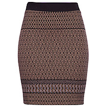 Buy Betty Barclay Jersey Diamond Print Skirt, Black/Beige Online at johnlewis.com