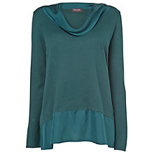 Buy Phase Eight Brook Silk Panel Jumper, Petrol Online at johnlewis.com