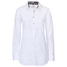 Buy Betty Barclay Print Collar Long Shirt, Bright White Online at johnlewis.com