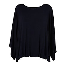 Buy Phase Eight Cecily Kimono Sleeve Top, Navy Online at johnlewis.com