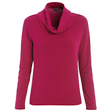 Buy Betty Barclay Long Sleeved Cowl Neck T-Shirt, Shiny Raspberry Online at johnlewis.com