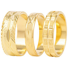 Buy Susan Caplan for John Lewis Set of Three Rings, Gold Online at johnlewis.com