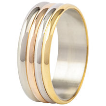 Buy Susan Caplan for John Lewis 1990s Band Ring, Gold/Silver Online at johnlewis.com