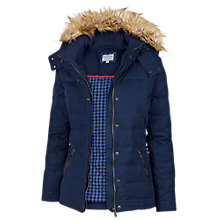 Buy Fat Face Ellie Leather Puffer Jacket, Navy Online at johnlewis.com