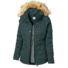 Buy Fat Face Ellie Leather Trim Puffer Jacket Online at johnlewis.com