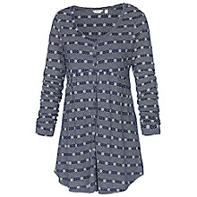 Buy Fat Face Button Floral Stripe Tunic, Navy Online at johnlewis.com