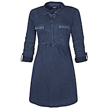 Buy Fat Face Shirt Detail Tunic Dress, Navy Online at johnlewis.com