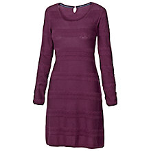 Buy Fat Face Knitted Cotton Lace Dress, Amethyst Online at johnlewis.com