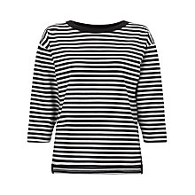 Buy Kin by John Lewis Striped Sweatshirt, Black/White Online at johnlewis.com