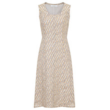 Buy John Lewis Capsule Collection Sleeveless Linen Dress, Peach/Dove Online at johnlewis.com