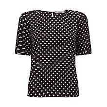 Buy Somerset by Alice Temperley Boat Print Top, Black Online at johnlewis.com