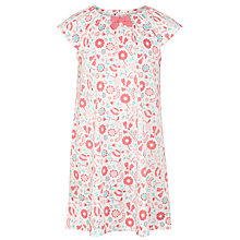 Buy John Lewis Girl Short Sleeve Floral Print Nightdress, White/Pink Online at johnlewis.com