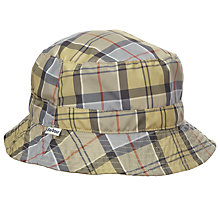 Buy Barbour Reverse Tartan Bucket Hat, Stone Online at johnlewis.com