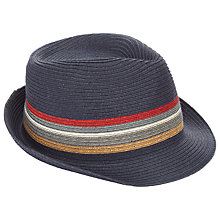 Buy Barbour Train Stripe Trilby, Navy Online at johnlewis.com
