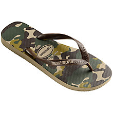 Buy Havaianas Camouflage Patterned Flip Flops, Green Online at johnlewis.com