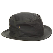 Buy Barbour Bushman Wax Hat, Sage Online at johnlewis.com