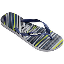 Buy Havaianas Trend Stripe Flip Flops, Blue Online at johnlewis.com