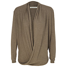 Buy Max Studio Drape Front Knit Jumper, Toast Online at johnlewis.com