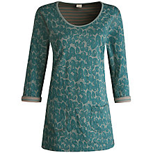 Buy Seasalt Tregoose Tunic Top, Fowey Foliage Topaz Online at johnlewis.com