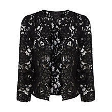 Buy Coast Izzy Lace Jacket, Black Online at johnlewis.com