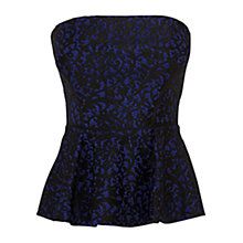Buy Coast Magna Bustier Top, Blue Online at johnlewis.com