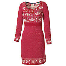 Buy Fat Face Fairisle Knitted Dress, Crimson Online at johnlewis.com