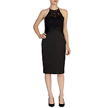 Buy Coast Valance Duchess Satin Dress, Black Online at johnlewis.com