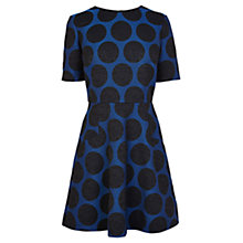 Buy Coast Melek Spot Dress, Blue Online at johnlewis.com
