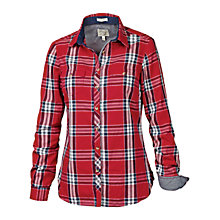Buy Fat Face Classic Fit Grid Shirt, Crimson Online at johnlewis.com