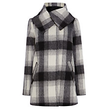 Buy Coast Williamsburg Check Coat, Monochrome Online at johnlewis.com